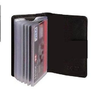 Excellent Pure Credit, ATM Leatherite Card Holder black or Brown