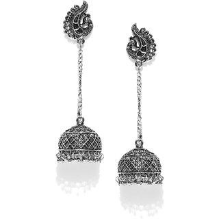 Zaveri Pearls Antique Dome Shaped Jhumki Drop Earring-ZPFK6556