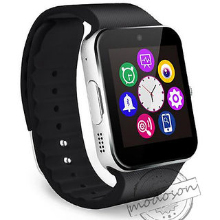 Smart Watch Bluetooth with Built-in Sim card and memory card slot Compatible with All Android Mobiles Silver Smartwatch