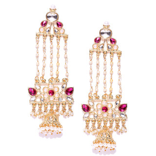 Zaveri Pearls Gold Tone Ethnic Dangle Earring-ZPFK6695