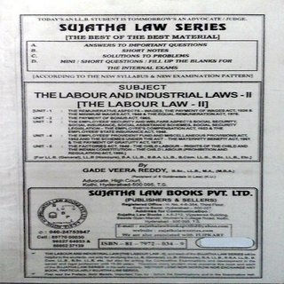 The Labour and Industrial Laws - II (The Labour Law - II)