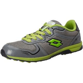 Lotto Mens Grey and Green Running Shoes