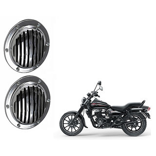 Himmlisch Hella Silver Midi Bike Horn Set of 2 -For  Bajaj Avenger 150 Street