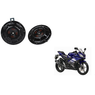 Himmlisch Hella Bike Black Thunder Supertone Horn Set of 2 -For  Yamaha YZF R15