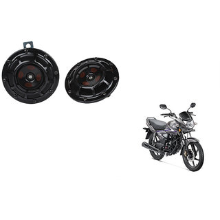 Himmlisch Hella Bike Black Thunder Supertone Horn Set of 2 -For  Honda CB Shine