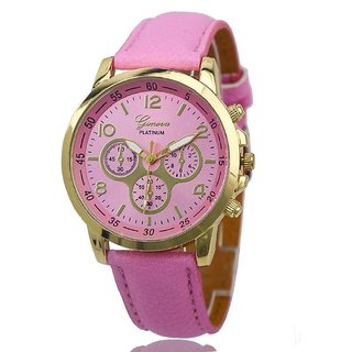 Pmax Geneva Platinum Mint pink Analog Watch For Women, Girls