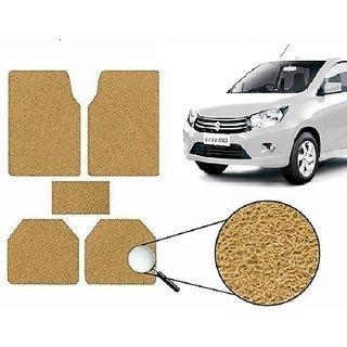 Autonity Anti Slip Noodle Car Floor Mats SET OF 5 Beige For Maruti Celerio