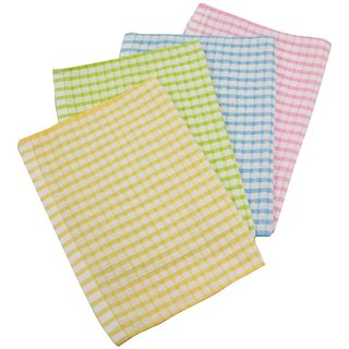 Angel Cotton Softy 4pc Tea Towel Set - 12x18 Inch