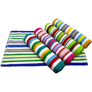 iLiv Set of 4 MultiColor Terry Stripes Large Hand Towels