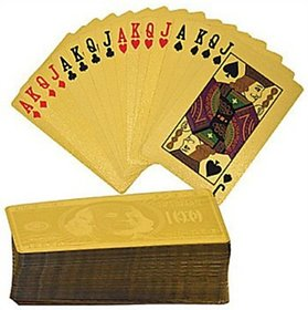 Gold plated Playing Cards