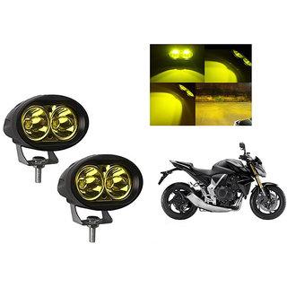 Himmlisch Bike 20W 3000K Led Driving Light Cree LED Aux Light Set of 2 yellow for  Honda CB1000R