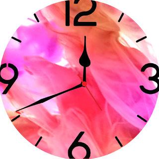 3d designer pink wall clock