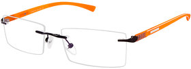Cardon Gunmetal Rectangular Rimless EyeGlass