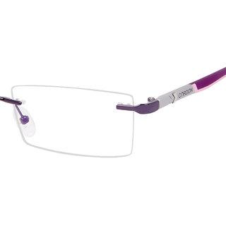 fc28281b3bd Buy Cardon Purple Rectangular Rimless EyeGlass Online   ₹799 from ...