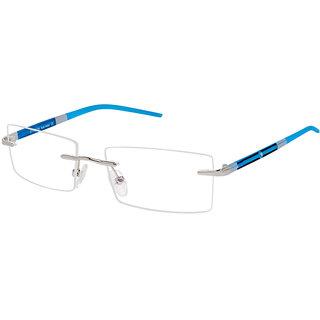 Cardon Silver Rectangular Rimless EyeGlass