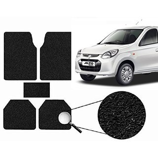 Autonity Anti Slip Noodle Car Floor Mats SET OF 5 Black  For Maruti Alto 800