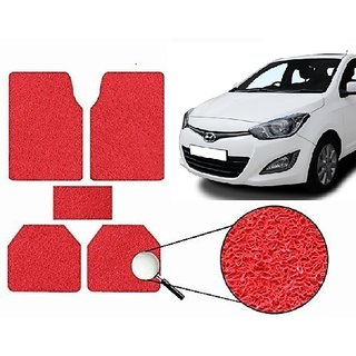 Autonity Anti Slip Noodle Car Floor Mats SET OF 5 Red For Hyundai i20