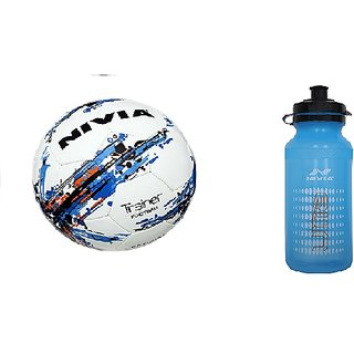 Nivia Trainer Football with Nivia Ultra Sipper (Colour May Vary)