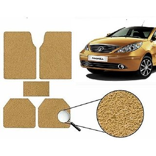 Autonity Anti Slip Noodle Car Floor Mats SET OF 5 Beige For Tata Manza