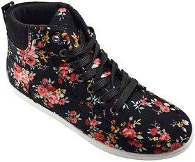 Khadim's Pro Black Canvas Sneakers For Women