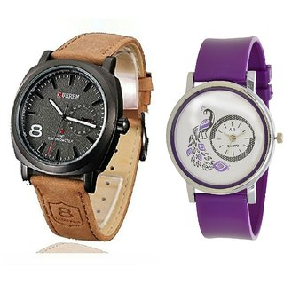 Curren Miter and Purple More Special VIP Analog Watch - For Girls Boys