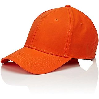 cba9da54a3a Buy Babji Cool Look Solid Stylish Orange Cotton Baseball Cap Online ...