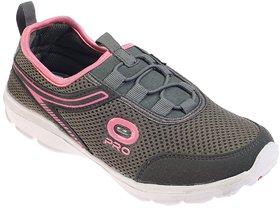 Khadim's Pro Pink Grey Slip-On Sneakers For Women