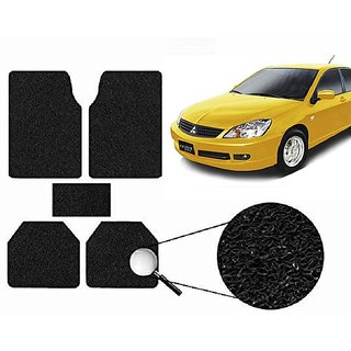 Autonity Anti Slip Noodle Car Floor Mats SET OF 5 Black  For Mitsubishi Cedia