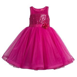 Meia for girls Pink Sequin girls party dress