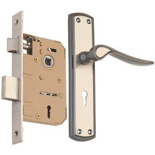 af98ec803f0 Spider Zinc Mortice Key Lock Set with Black Silver Finish (EMLS + ZZ02MBS)