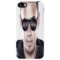 Snoogg Afrojack Face Front 2908 Case Cover For Apple Iphone 4 /4S