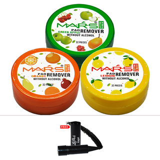 Mars Orange Lemon Green Apple Nail Paint With Free Laperla Kajal