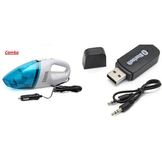 love4ride Combo of Car Bluetooth Device with Vacuum Cleaner
