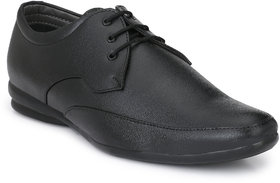 R L Shoes Men's Black Synthetic Leather Lace Up Formal