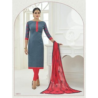 Office/ party wear embroidery salwar kameez suit unstitched dress material