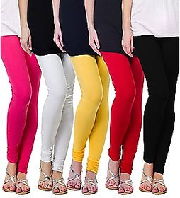 Cotton Lycra churidar free size legging for woman's