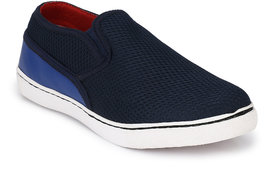 R L Shoes Men's Blue Slip On Canvas Shoes