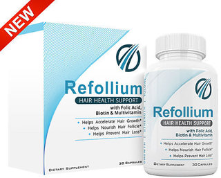 Refollium Hair Health support Growth 30 Capsules  Regrow your hair in 60 days