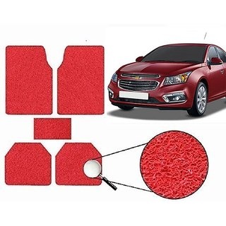 Autonity Anti Slip Noodle Car Floor Mats SET OF 5 Red For Chevrolet Cruze