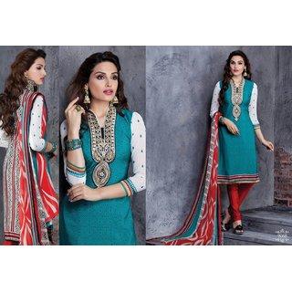 Office/Party wear crape salwar kameez suit unstitched dress material