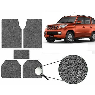 Autonity Anti Slip Noodle Car Floor Mats SET OF 5 Grey  For Mahindra Tuv 300