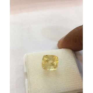 Yellow Sapphire Pukhraj Natural  Original Stone 9.25 Ratti Jaipur Gemstone
