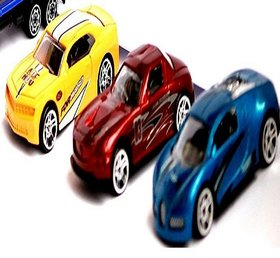 Kuhu Creations Classical Toys Cars Vehicle Gift Pack. (3 Units, Mix Multicolor)