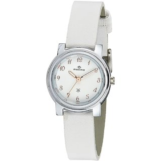 Maxima Analog White Dial Womens Watch-41310LMLI
