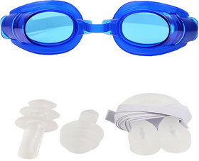 Futaba Water Sports Swimming Set with 2 Earplugs  1 Nose Clip - Blue