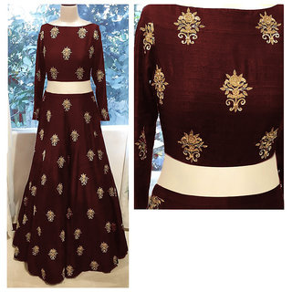 Rise On Fab By Designer Maroon Color Benglori Silk Material Wedding And