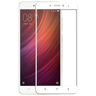 Kartik Full Covred Tempered Glass,Full Screen Color Glass 2.5d For Redmi Note 4 - White