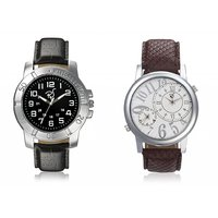 Rico Sordi Round Dial Multicolor Metal Strap Quartz Watch For Men