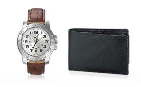 Rico Sordi Round Dial Brown Leather Strap Quartz Watch For Men