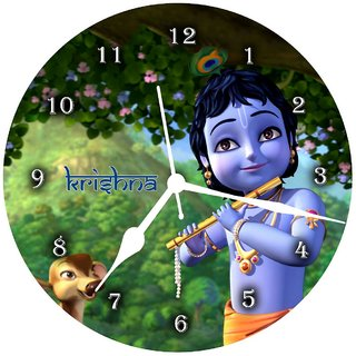 3d krishna mdf1 wall clock